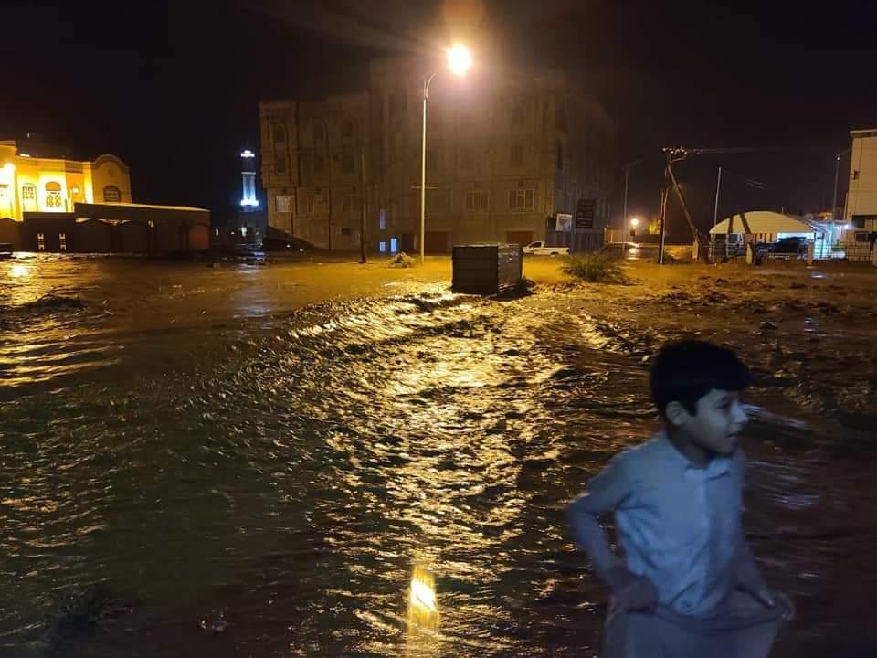 أضرار كارثية جراء سيول الأمطار الغزيرة في حضرموت
