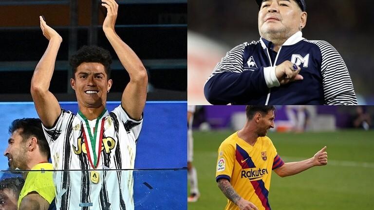 نجل مارادونا يختار الأفضل بين والده وميسي ورونالدو