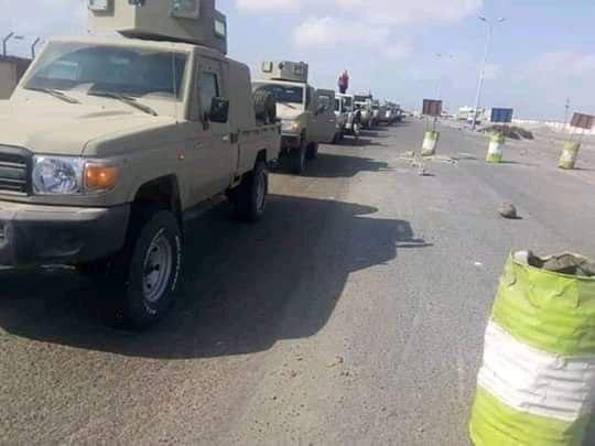 قبائل يافع تصدر بيان بشأن احتجاز تعزيزات عسكرية كانت في طريقها إلى البيضاء (صورة)