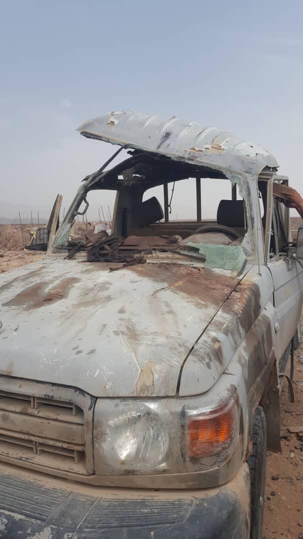 نجاة قائد عسكري بارز من محاولة اغتيال في مأرب (صور)