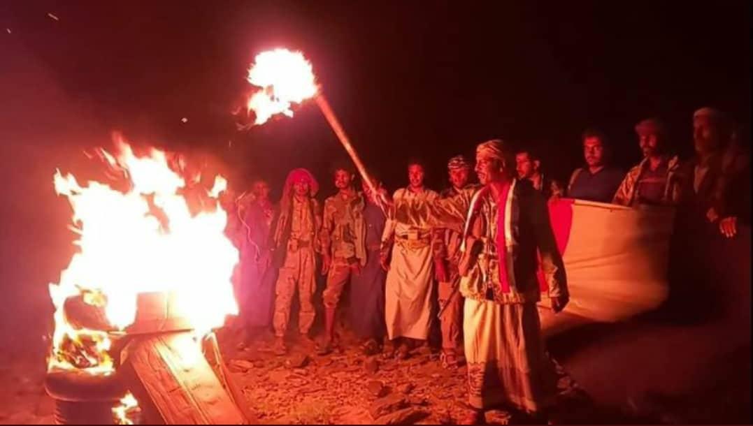 شاهد ماحدث في جبل مراد بمأرب وأثار جنون الحوثيين
